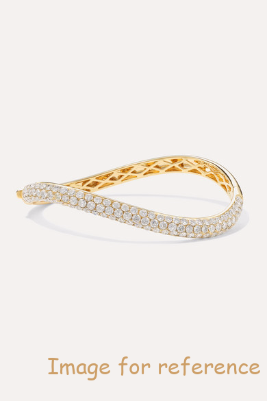 OEM factory 18K gold diamond bangle 925 silver fine jewelry wholesaler