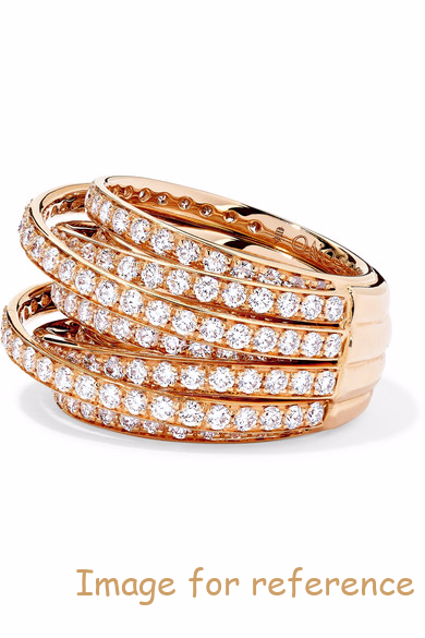 18K rose gold diamond ring 925 silver ring wholesalser OEM