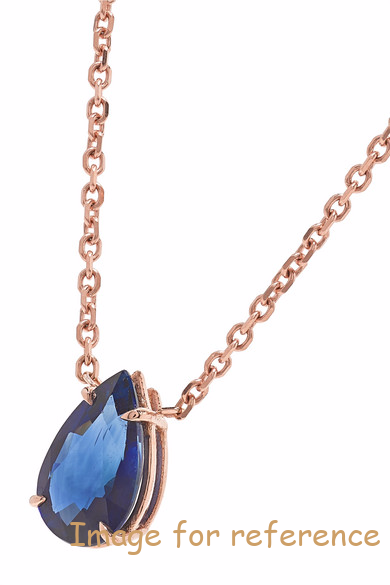 18K rose gold sapphire necklace