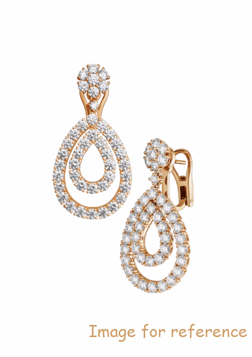 OEM Swarovski zirconia EARRINGS, ROSE GOLD Jewelry manufacturers