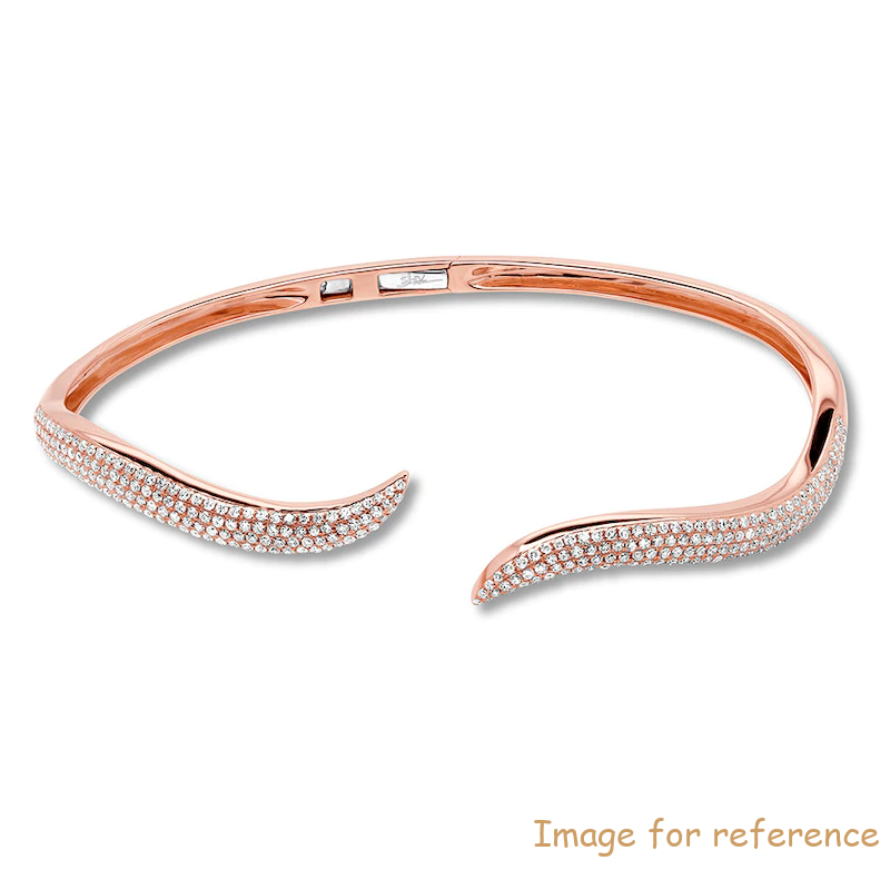 OEM silver Bangle 14K Rose Gold China Custom-Made Jewelry Factory