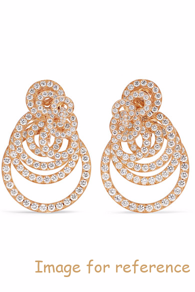 rose gold zirconia earrings OEM Factory jewelry custom wholesaler