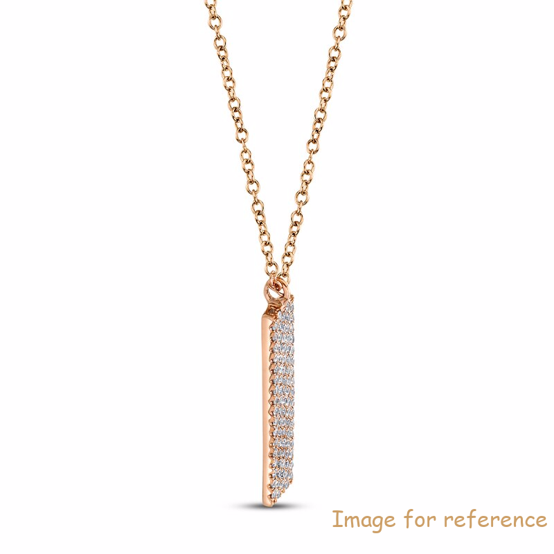 zircon Necklace OEM ODM factory 14K Rose Gold supplier1