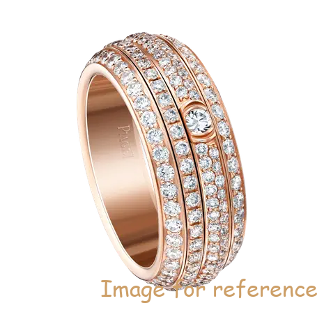 925 silver ring in 18K rose gold OEM factory manufacturer