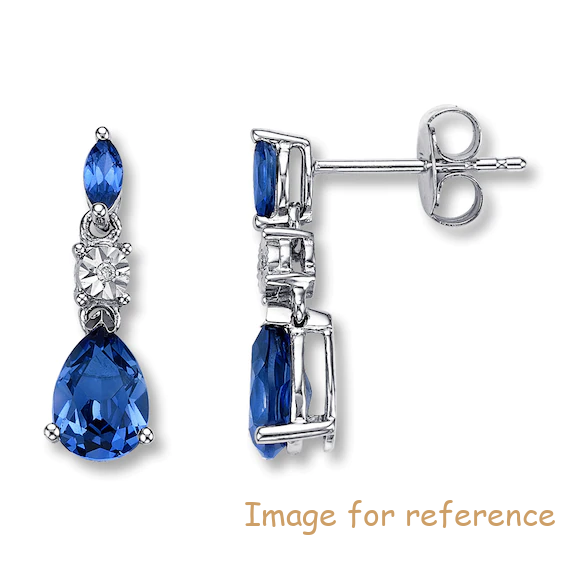 AAA Cubic Zirconia Earrings 10K White Gold OEM factory China