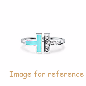 China oem silver wholesale Ring in 18k White Gold