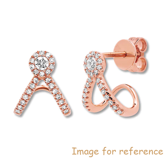 Earrings zircon 14K Rose Gold Jewelry Factory Jewelry OEM ODM