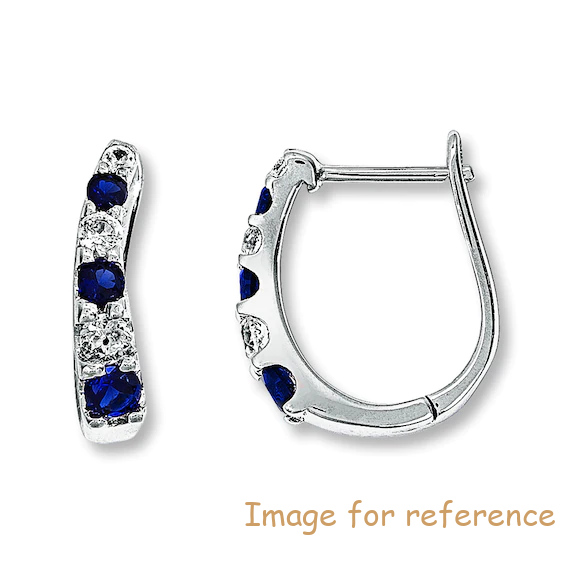 Hoop Earrings 10K White Gold CZ Jewelry OEM Manufacturer
