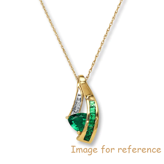 OEM Necklace Swarovski zirconia 10K Yellow Gold manufacturer