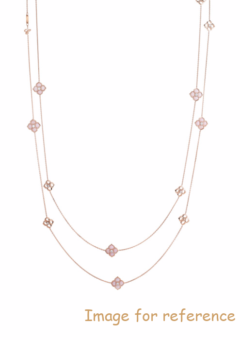 OEM SILVER SAUTOIR NECKLACE, ROSE GOLD MANUFACTURE
