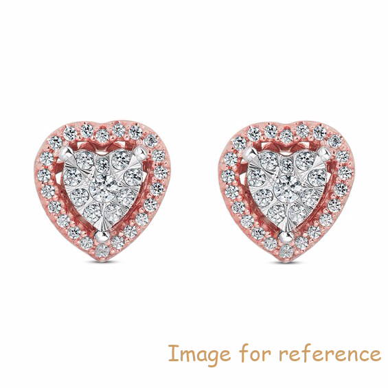 OEM Swarovski zircon Earrings 10K Rose Gold OEM Jewelry manufacturers