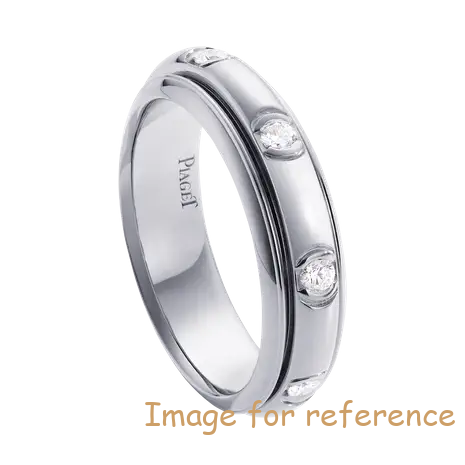 OEM Swarovski zirconia wedding ring in 18K white gold Sterling Silver Jewelry Factory