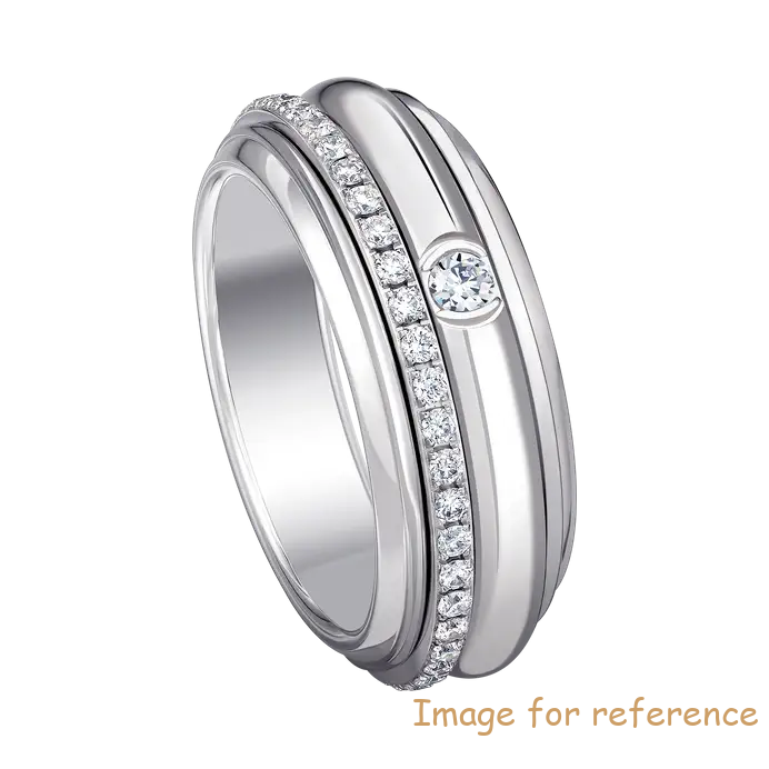 OEM Zircon wedding ring in 18K white gold Zircon Jewelry Factory