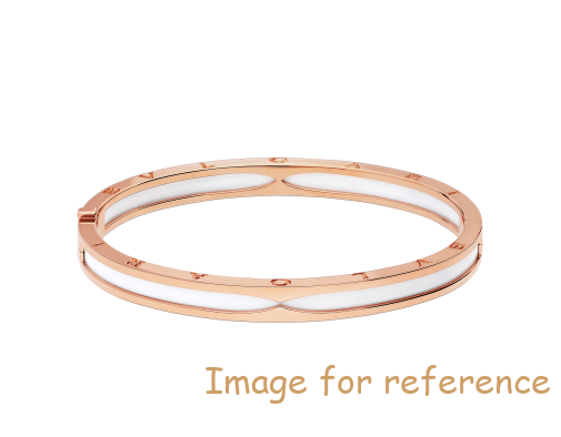 OEM silver bangle bracelet in 18K rose gold with white jewelry manufacturer