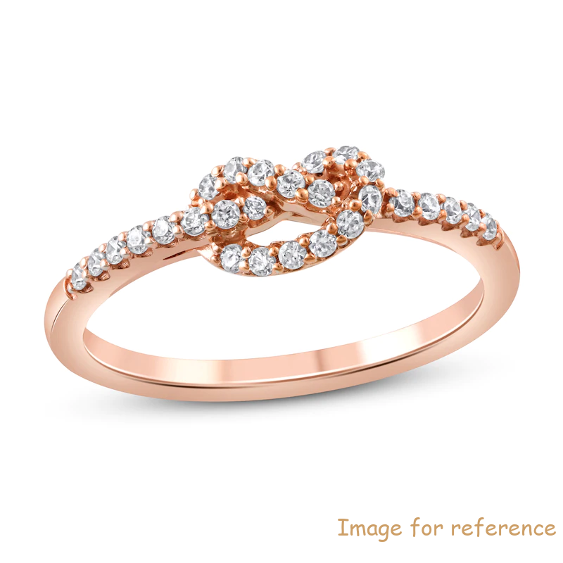 Custom 10K Rose Gold ring Zircon Jewelry Factory Manufacturers