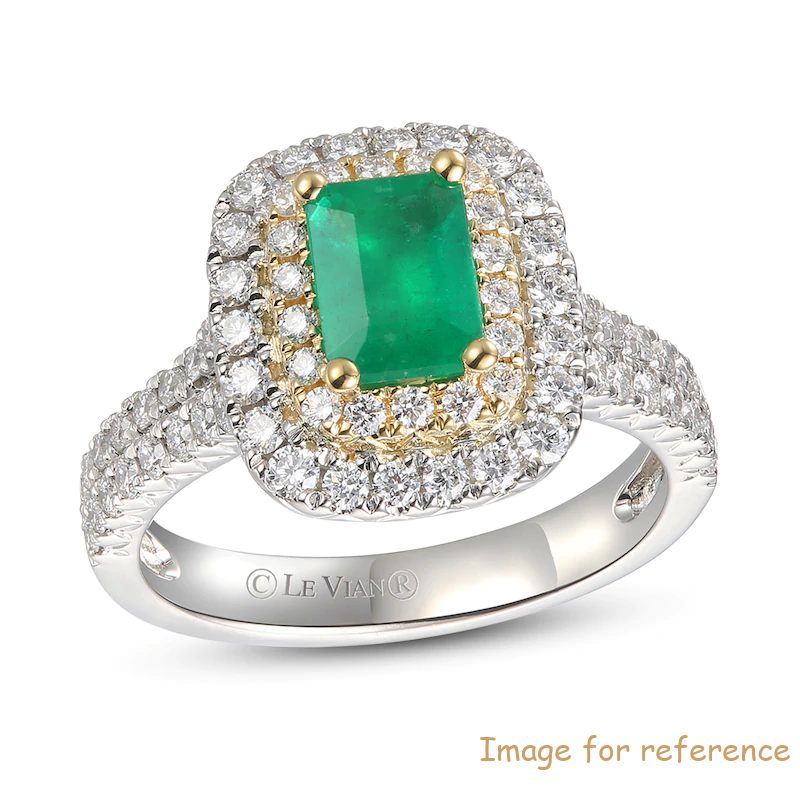 Customized Sterling Silver Natural Emerald Ring 18K Honey Gold Manufacturer