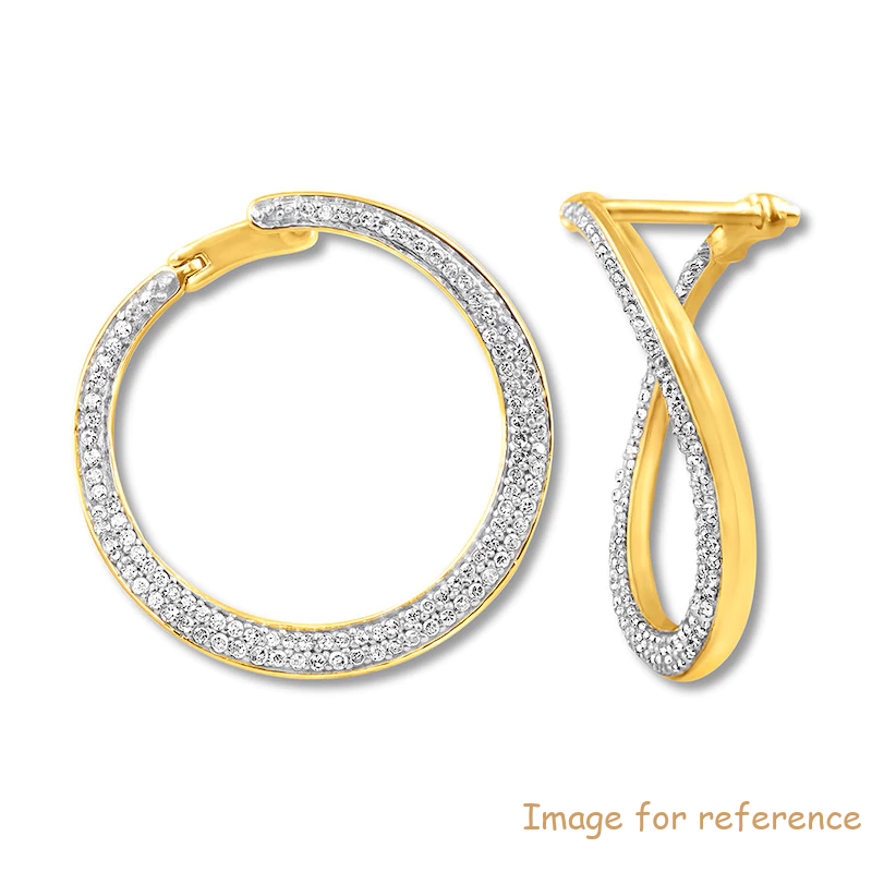 Hoop Earrings 10K Yellow Gold custom jewelry manufacturers china