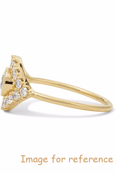 14K gold diamond ring 925