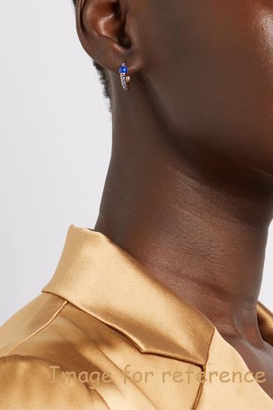 sapphire hoop earrings