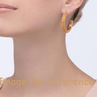 PINK GOLD DIAMONDS EARRINGS