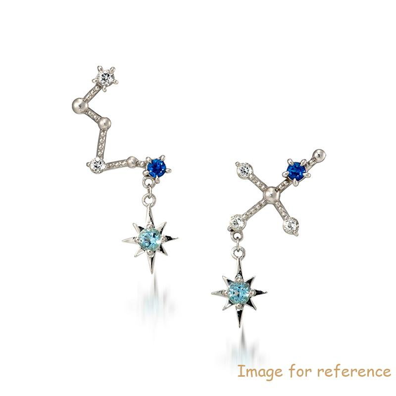 Pierced Constellation Earrings