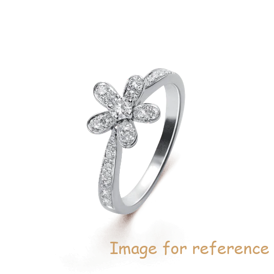 Customized Women Jewelry Plated AAA Cubic Zirconia 18k white gold ring