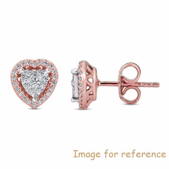 OEM Swarovski zircon Earrings 10K Rose Gold OEM Jewelry manufacturers