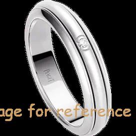 OEM Swarovski zirconia wedding ring in 18K white gold Sterling Silver Jewelry Factory1
