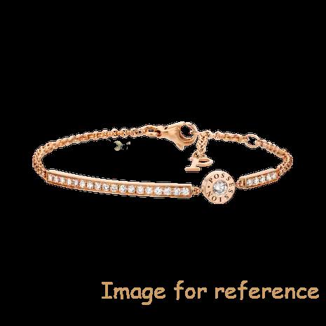 OEM zirconia bracelet in 18K rose gold 925 silver jewelry custom wholesale