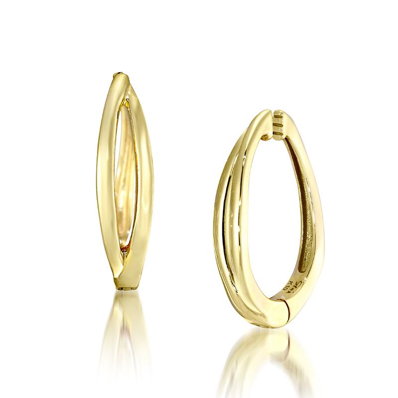 Gold Clip Earrings