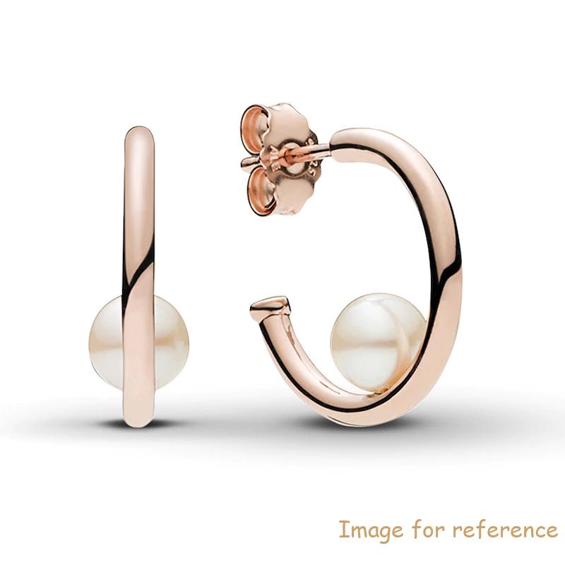 18k Rose Gold Hoop Earrings Custom