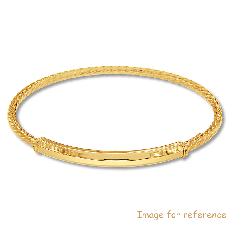 Bangle 10K Yellow Gold China Custom Jewelry Manufacturers