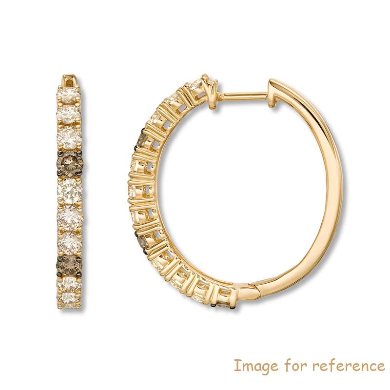 Custom Sterling Silver Hoop Earrings14K Honey Gold jewelry manufacturers china
