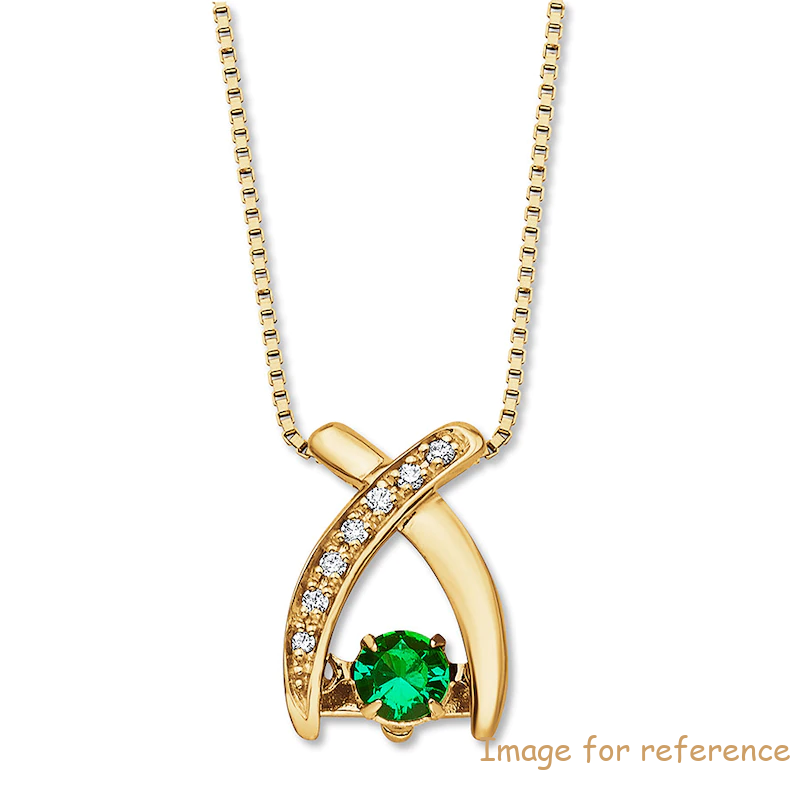 Custom Sterling Silver Necklace Emerald 10K Yellow Gold OEM Jewelry Manufacturer