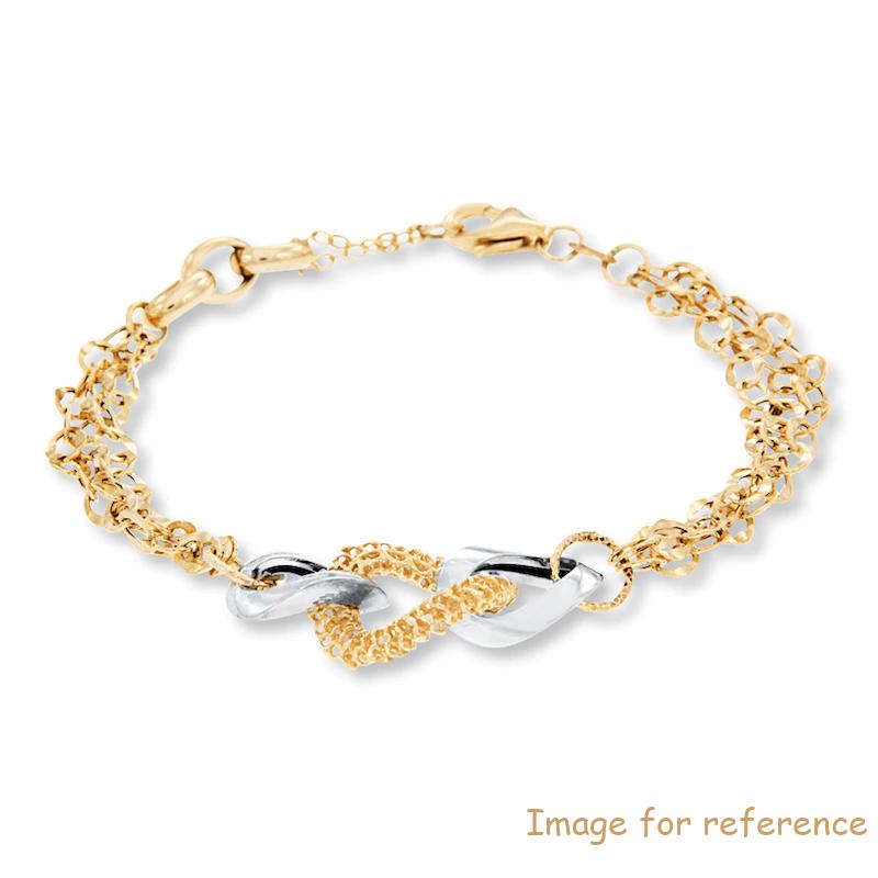 Custom Sterling silver Bracelet 14K Yellow Gold jewellery Manufacturer OEM