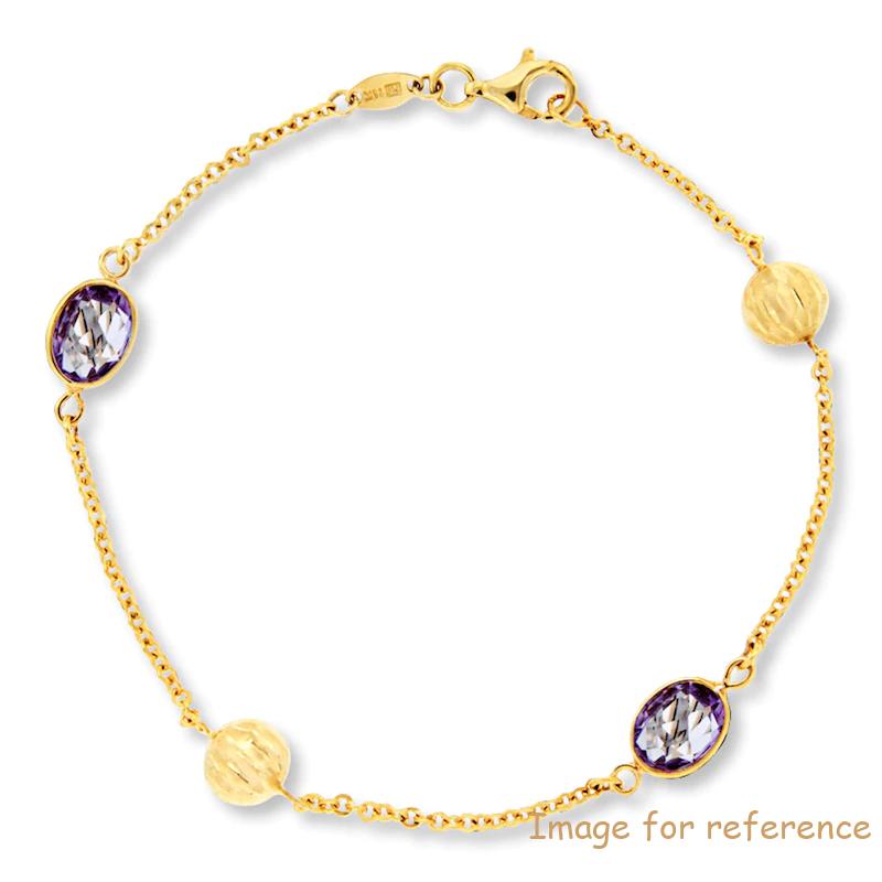Custom sterling silver Bracelet 14K Yellow Gold CZ Jewelry Manufacturer