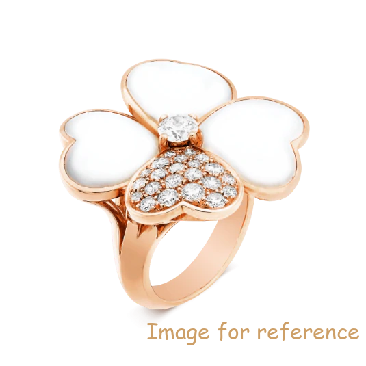 Customized 18K rose gold ring 925 silver jewelry manufacturer