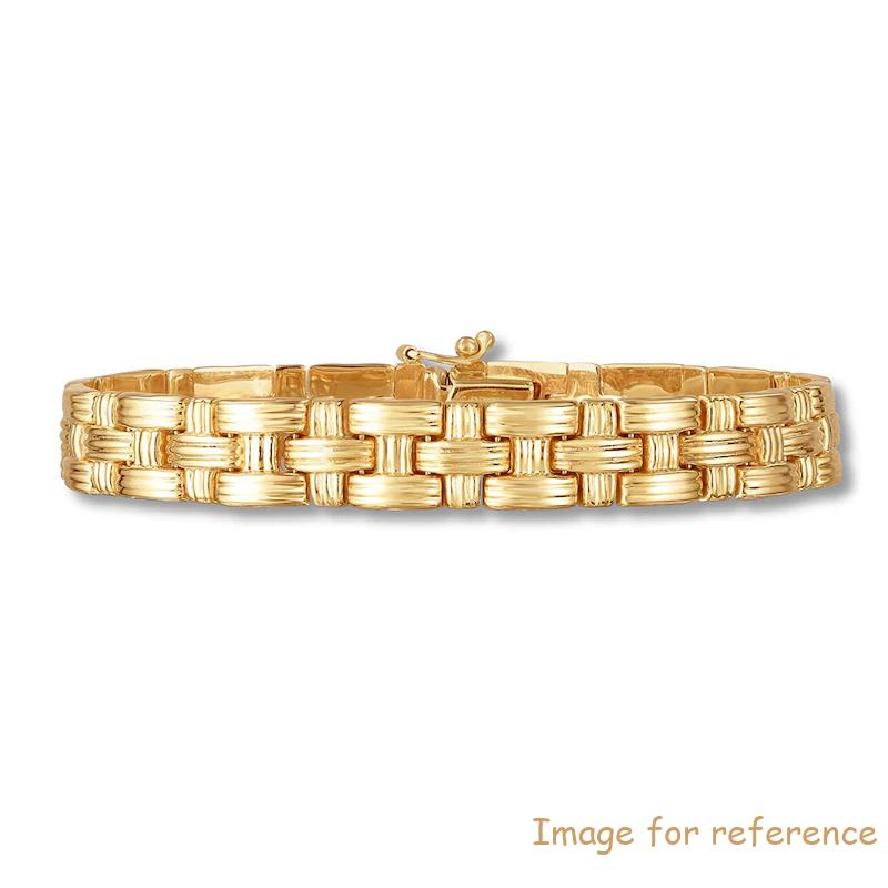 Customized 925 sterling silver jewelry Bracelet 10K Yellow Gold