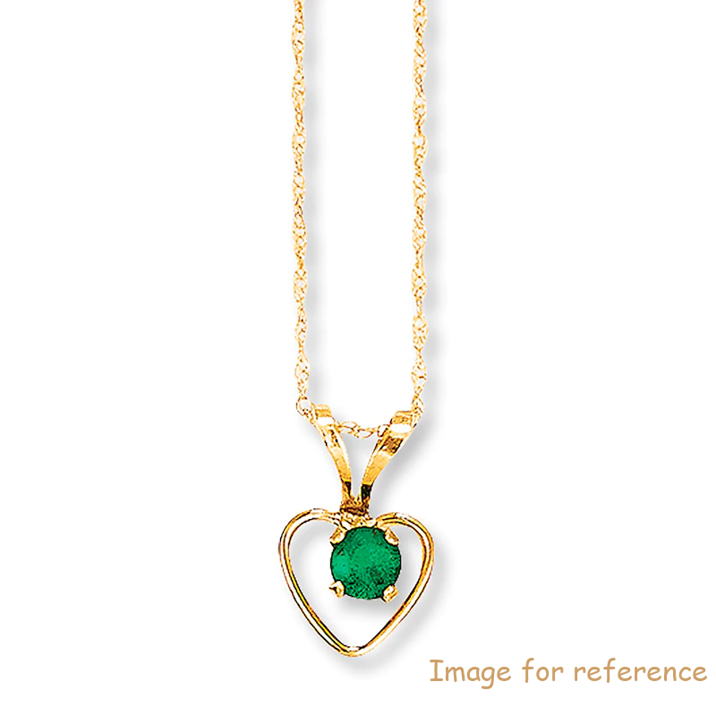 Emerald Necklace 14K Yellow Gold Custom jewelry Manufacturers OEM Suppliers