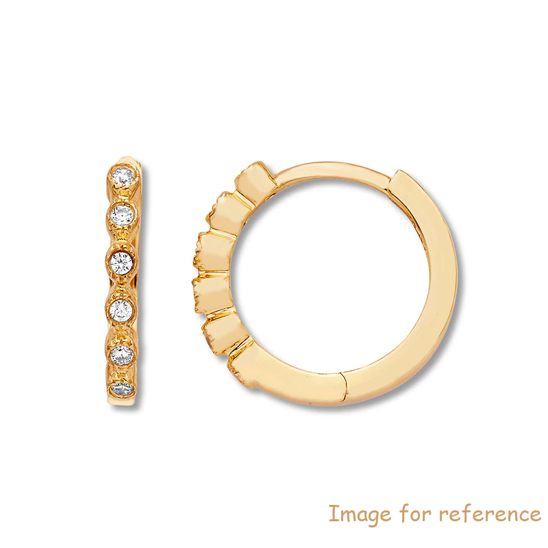 Sterling Silver Hoop Earrings 10K Yellow Gold custom jewelry manufacturers china
